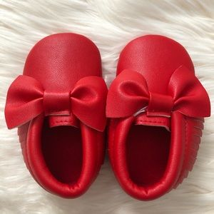 Other - Baby girl red moccasins